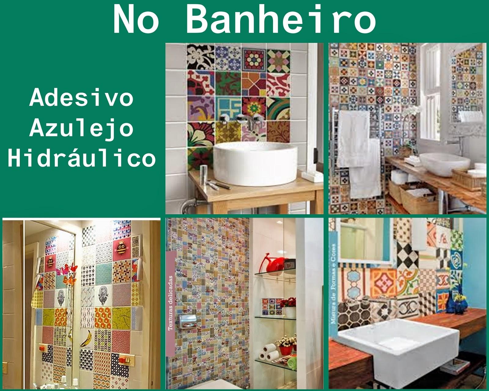 Em casa de Maria: Decorando com Adesivo de Azulejo Hidráulico #067D5E 1600x1280 Banheiro Com Adesivo De Azulejo