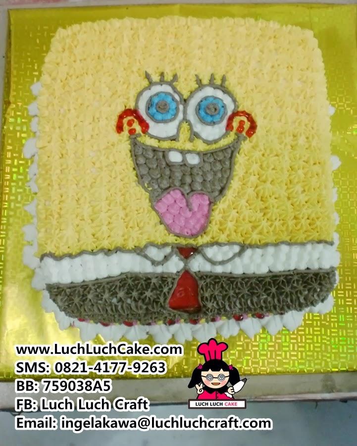 Kue Tart Spongebob Lucu Daerah Surabaya - Sidoarjo