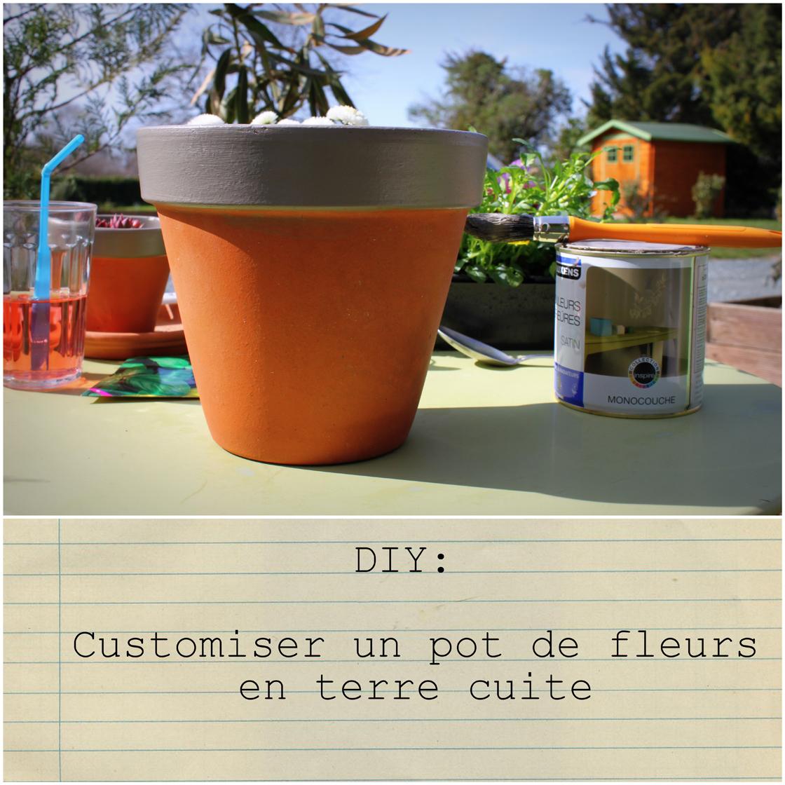 mandy bla bla diy du dimanche customiser un pot de fleurs. Black Bedroom Furniture Sets. Home Design Ideas