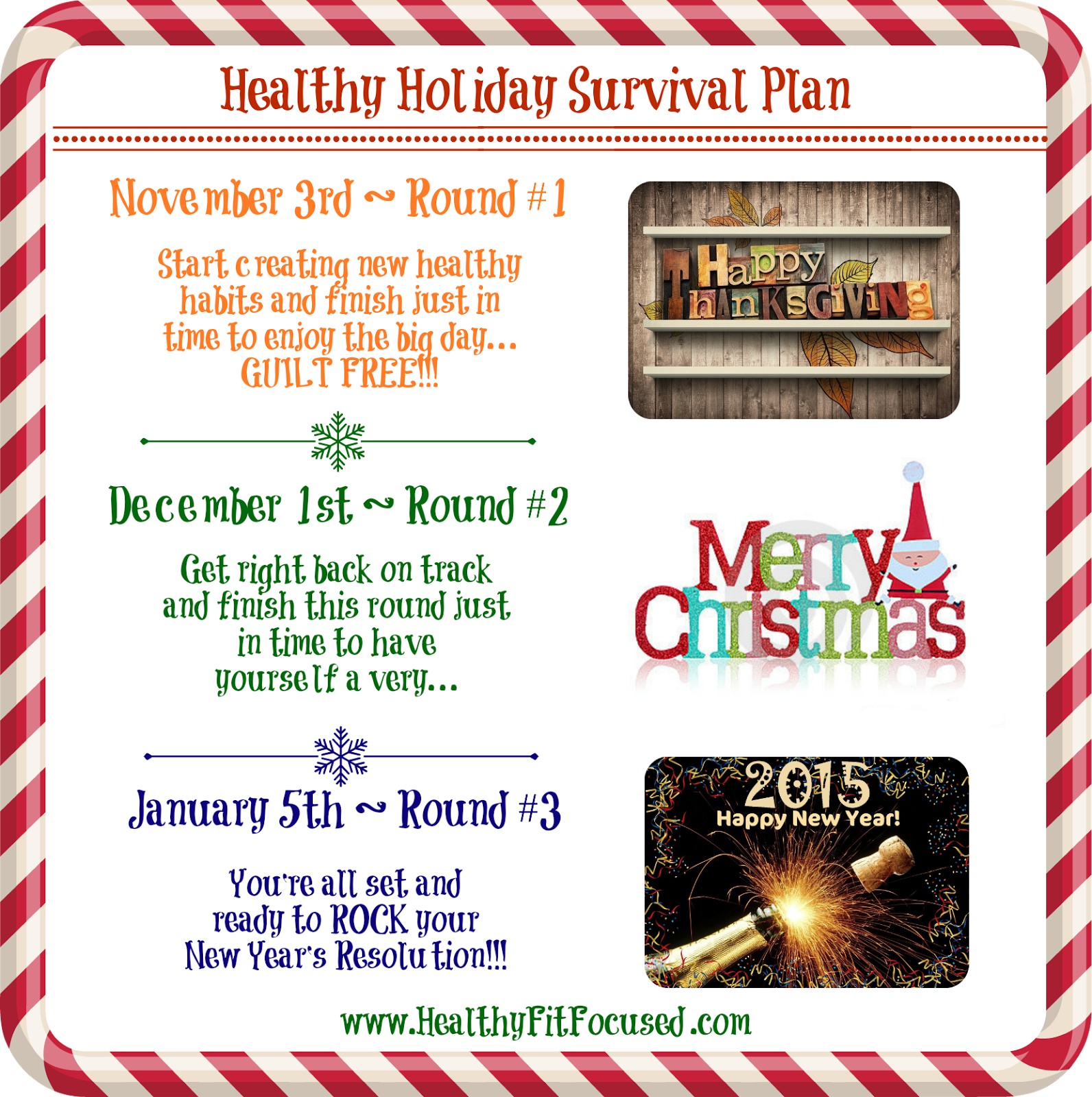 Holiday Survival Guide, Accountability group, www.HealthyFitFocused.com