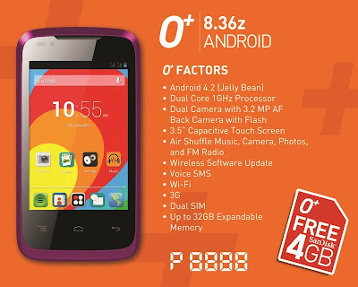 O+ 8.36z Android Specs Price in the Philippines