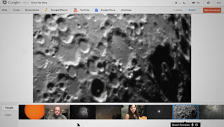 Un hangout Virtual Star Party su Google+. Fonte: Google