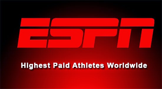List of Highest paid Athletes worldwide by ESPN