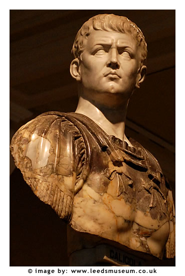emperor caligula Caligula (gaius julius caesar germanicus) throughout the centuries the name of caligula has been synonymous with madness and infamy, sadism and perversion.