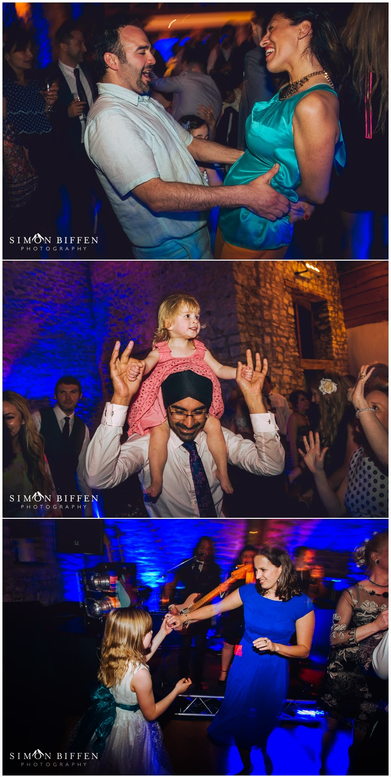 guests dancing at Priston Mill wedding