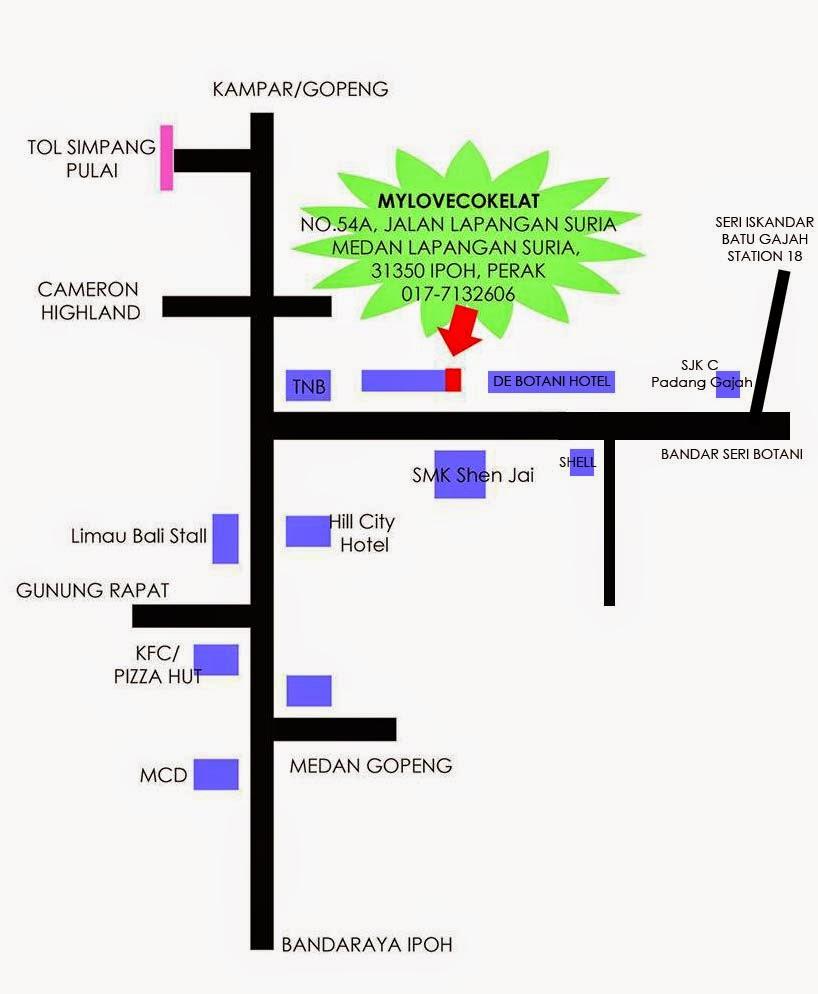 Lokasi Kedai Coklat & Pastri