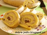 Jablkovo-tvarohová roláda - recept
