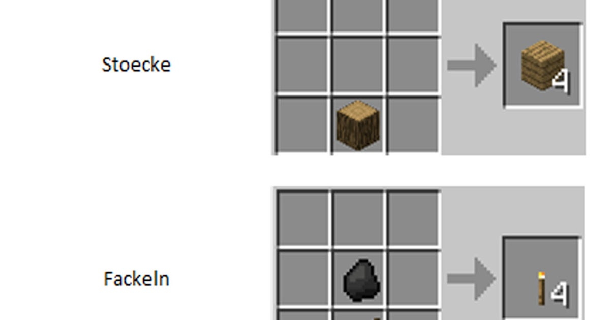 minecraft blog crafting rezepte