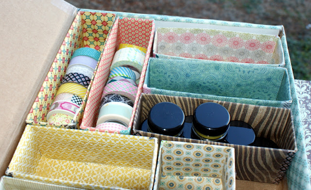 DIY Storage Box Organizer Made From Recycled Pantry Boxes