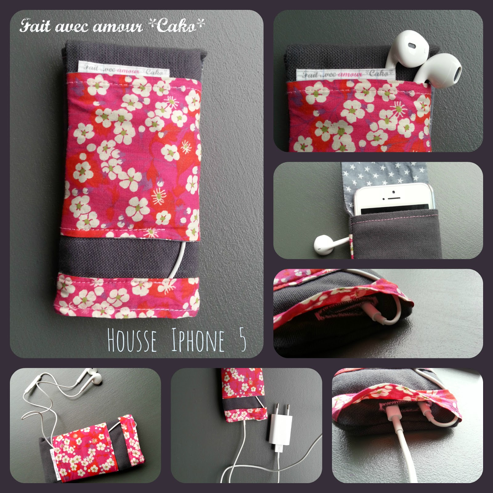 Tuto couture etui iphone for Housse telephone mobile