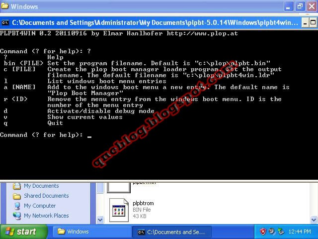 Removing Plop Boot Manager from your Boot Entry
