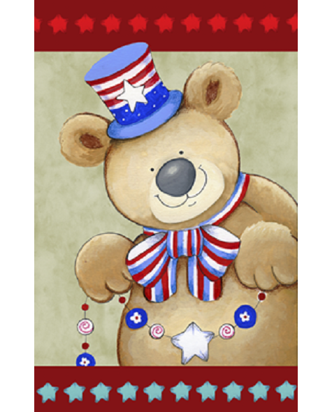 Patriotic Bear Gardn Flag