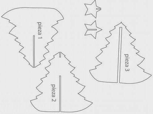 Miles de hobbies: Árbol de Navidad de goma eva