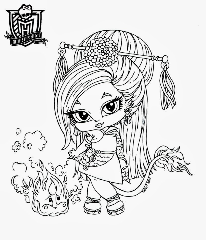 Monster High Babies for Coloring, part 1
