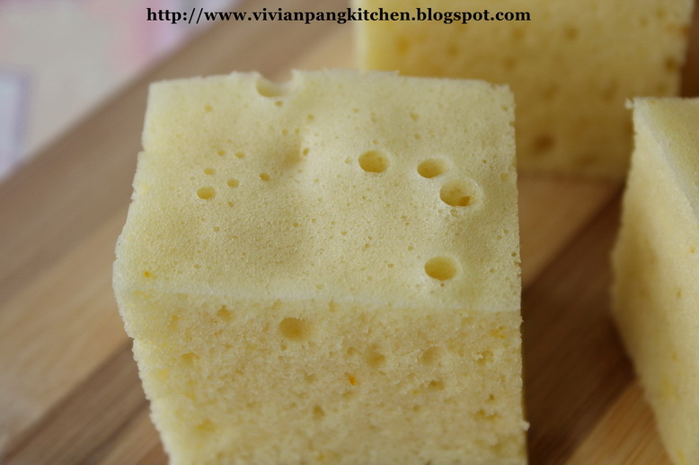 Steam Cake Recipes Pictures : Vivian Pang Kitchen: Steamed Sponge Cake(???) with Orange ...