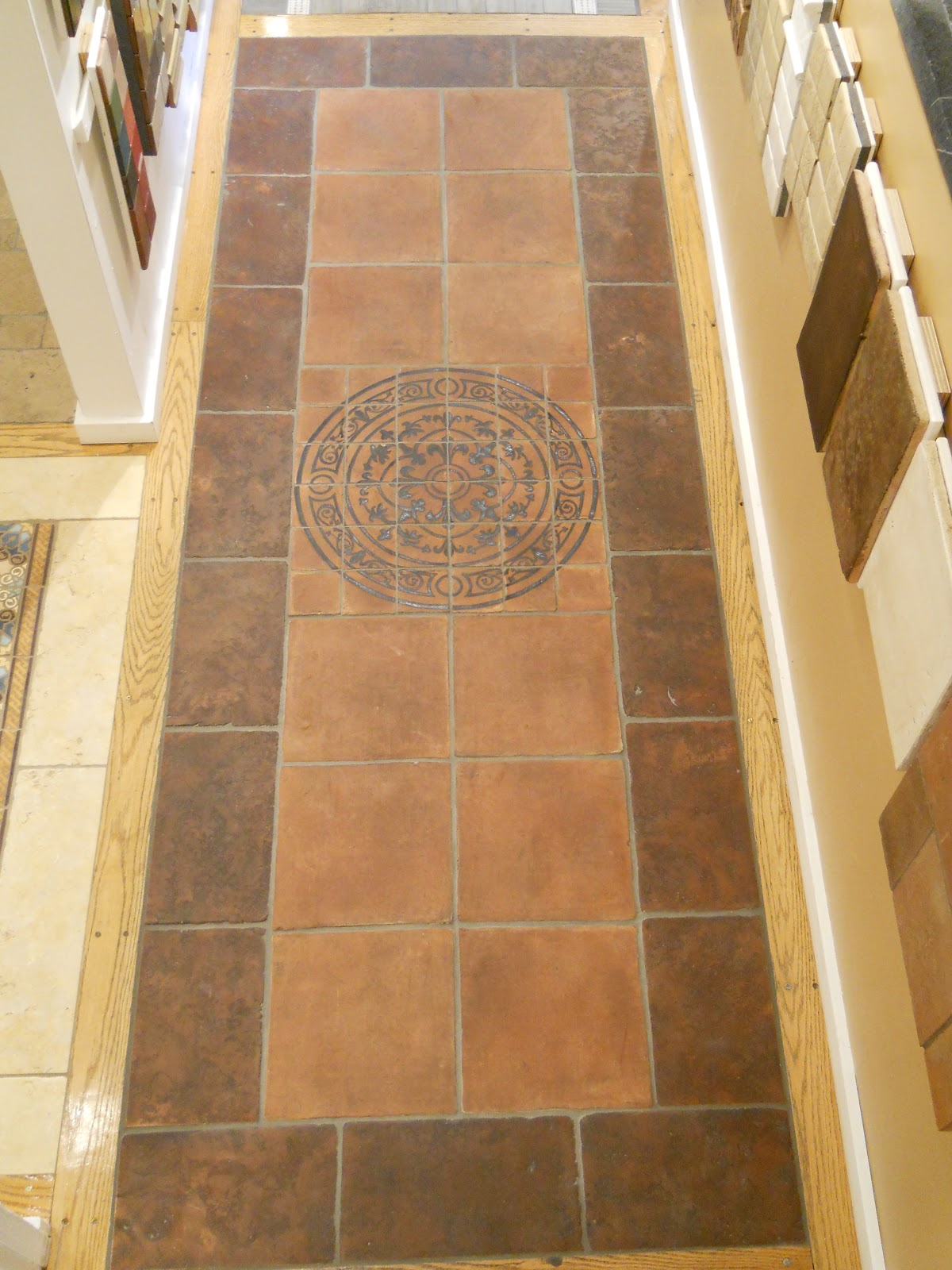 Their Terracotta Pavers Are Stained And Waxed For A Beautiful Antiqued Effect Dress Them Up Further With Medallion Or One Of Many