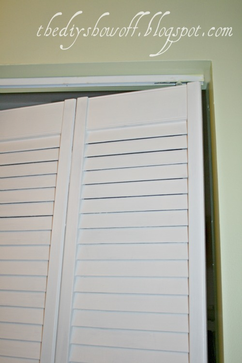 Diy project parade closet doors how to turn bifold for Plastic french doors
