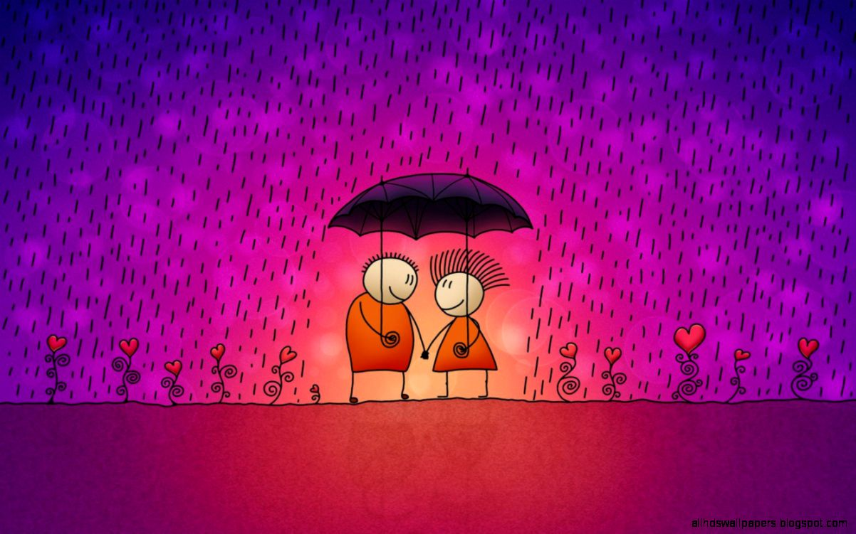 Funny Love Draw Art Wallpaper Hd