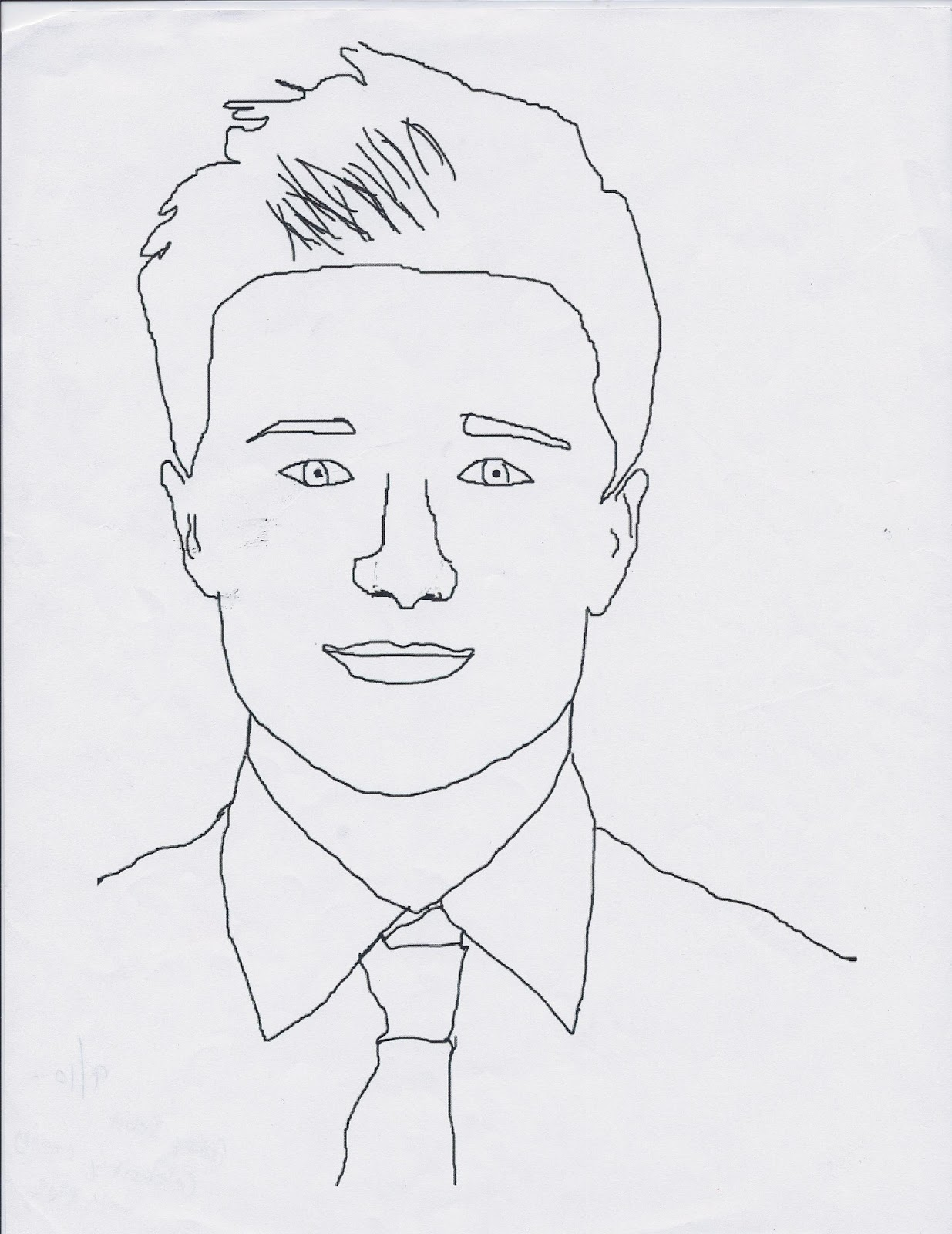 celebrity coloring page