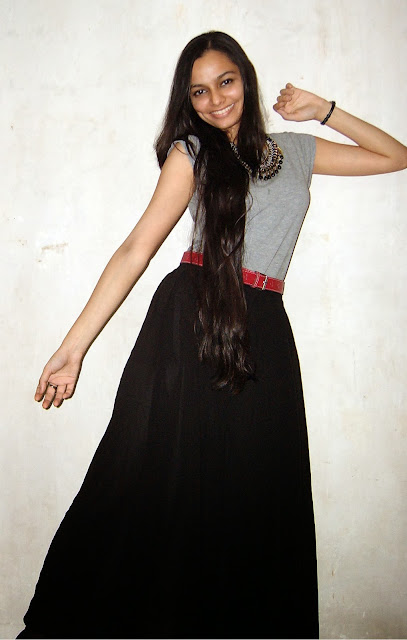 college outfits in mumbai, how to wear palazzos, black wide leg trousers, statement necklaces, trends in mumbai