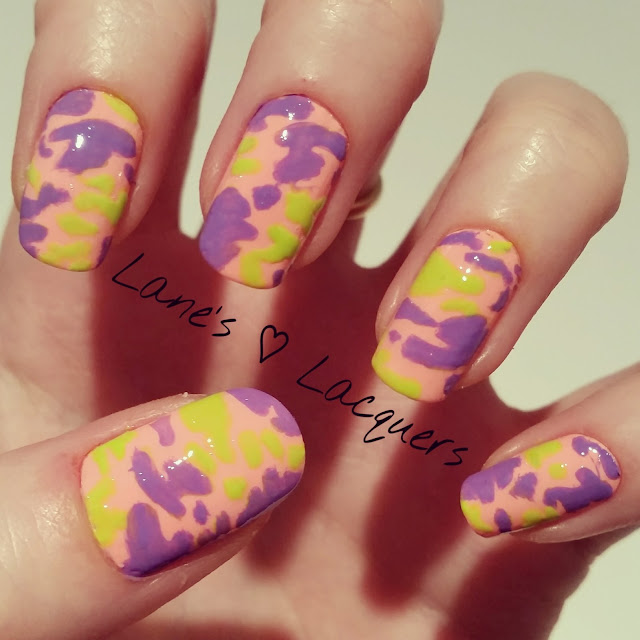 40-great-nail-art-ideas-orange-purple-green-camouflage-manicure (1)