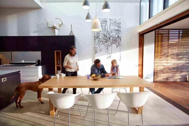 bright and dark wooden furniture