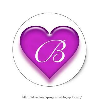 حرف B في قلب
