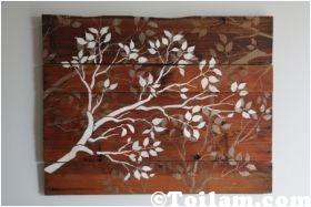 Cách làm tranh gỗ cực sang