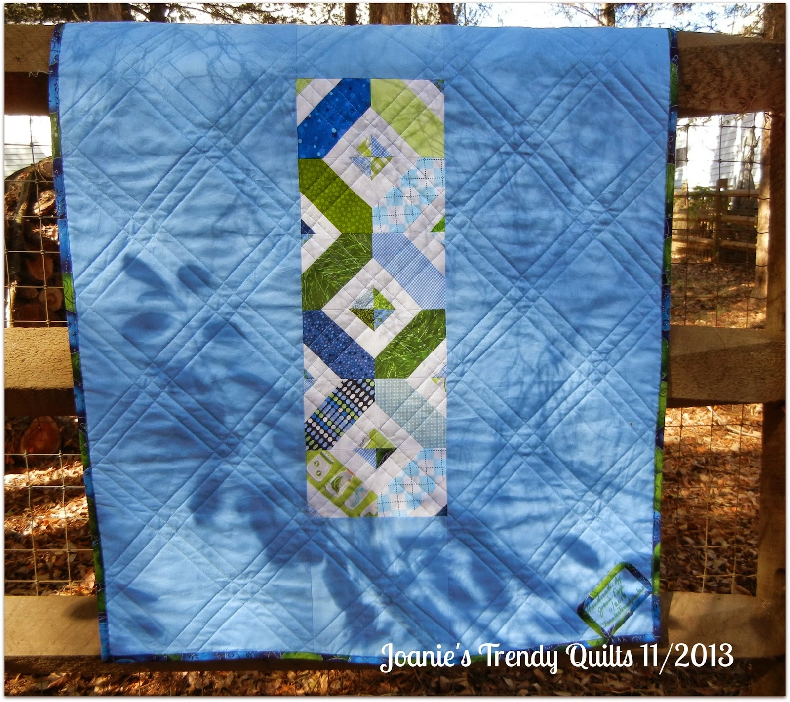 Joanies Trendy Quilts Blues And Greens