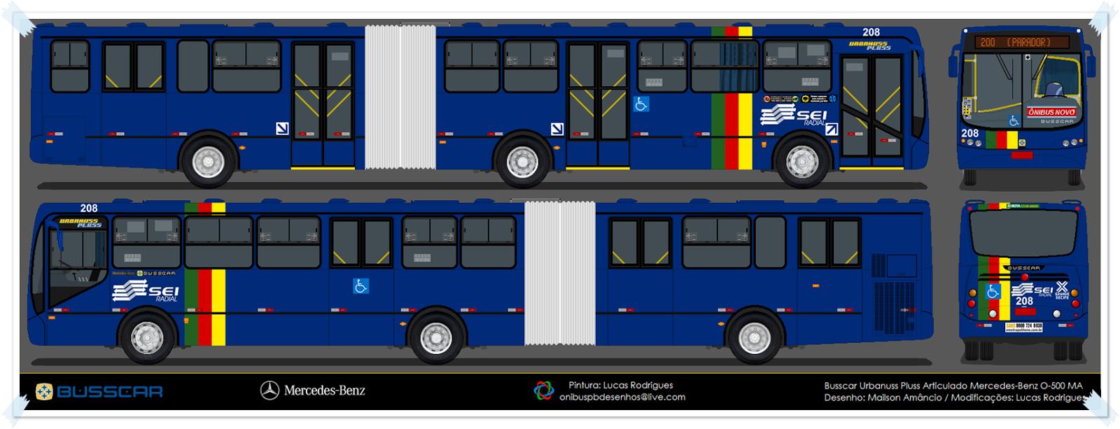 Ônibus da paraíba desenhos 351 da caxangá