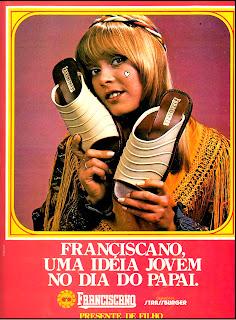 propaganda Franciscano - 1977. moda anos 70; propaganda anos 70; história da década de 70; reclames anos 70; brazil in the 70s; Oswaldo Hernandez
