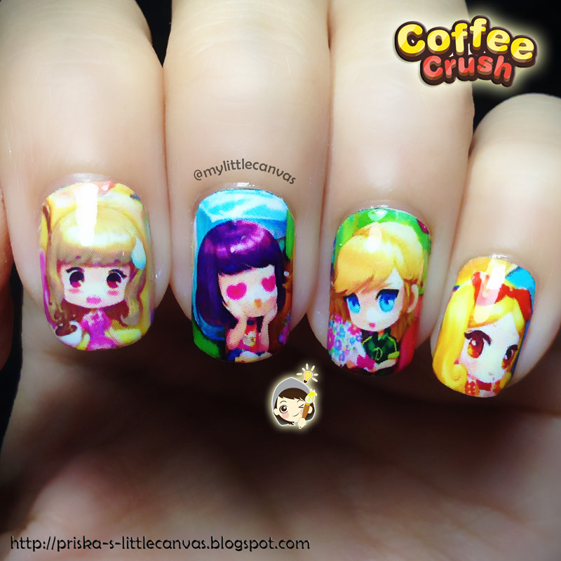 Puzzle Barista Nails by @mylittlecanvas