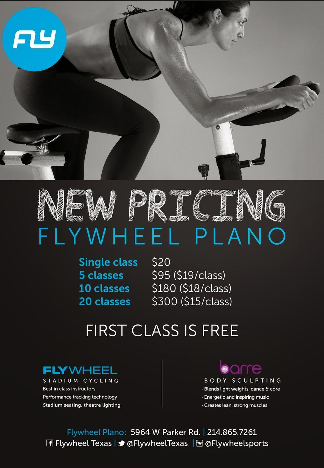 FlyWheel Plano Pricing Schedule