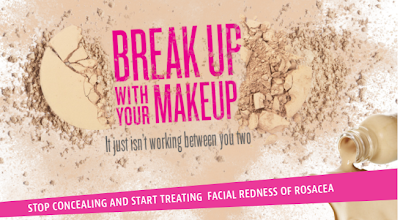 Mirvaso, break up with your makeup, sponsored post, skin, skincare, skin care, rosacea