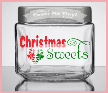 Christmas Sweets Candy Jar