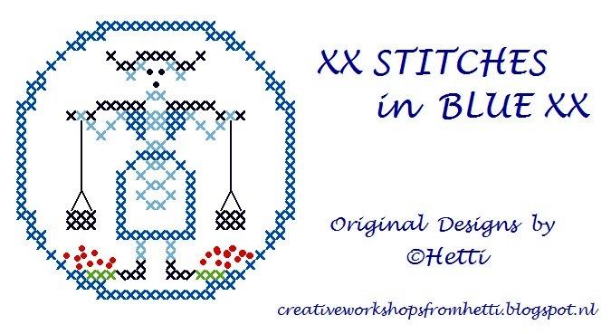XX STITCHES in BLUE XX