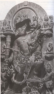 Varaha: Vishnu as the mighty boar raising the earth-goddess Bhoodevi from the ocean floor
