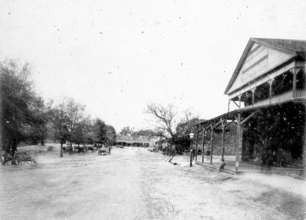 Downtown Marianna in the late 1800s