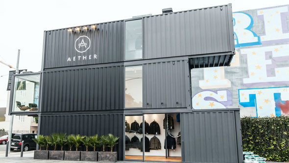Shipping container homes 3x 40 ft shipping container store aether apparel envelope a d - Container store home ...