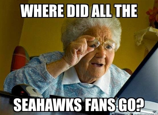 Where did all the seahawks fans go?