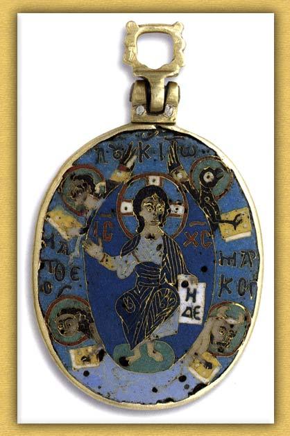Βυζαντινό αμφιπρόσωπο ελλειψοειδές εγκόλπιο της Ιεράς Μονής Βατοπαιδίου Αγίου Όρους