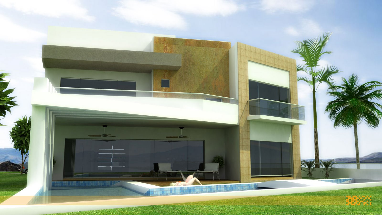 D Front Elevations : Marla house front design in bahria town joy