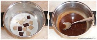 preparare glazura caramel pentru ornat torturi si prajituri de casa, retete culinare,