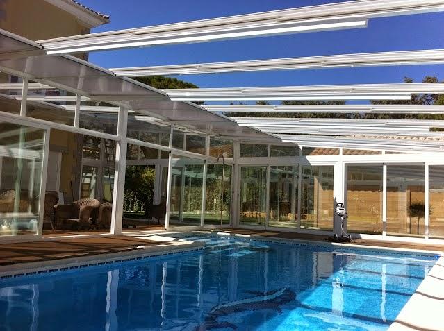 Distintos tipos de cerramientos de piscinas fotos de for Cerramientos para piscinas