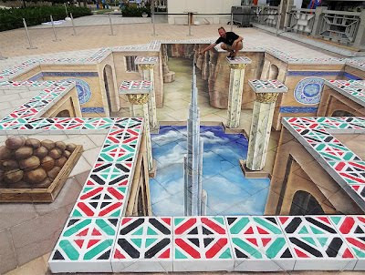 3D Chalk Design Of Abu Dhabi