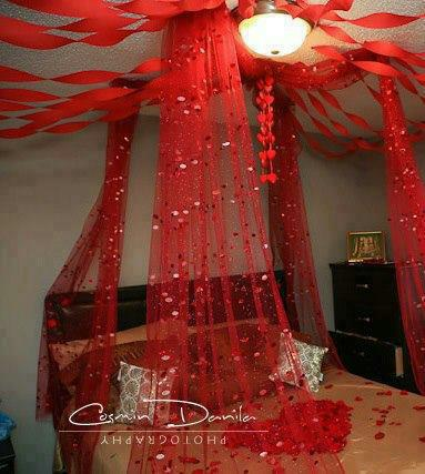 Wedding bed decoration hairstyles and fashion for Asian wedding room decoration