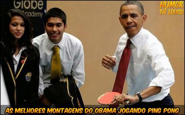 Melhores montagens do Obama Jogando Ping Pong