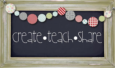 Framed Chalk board that says Teach, Create Share