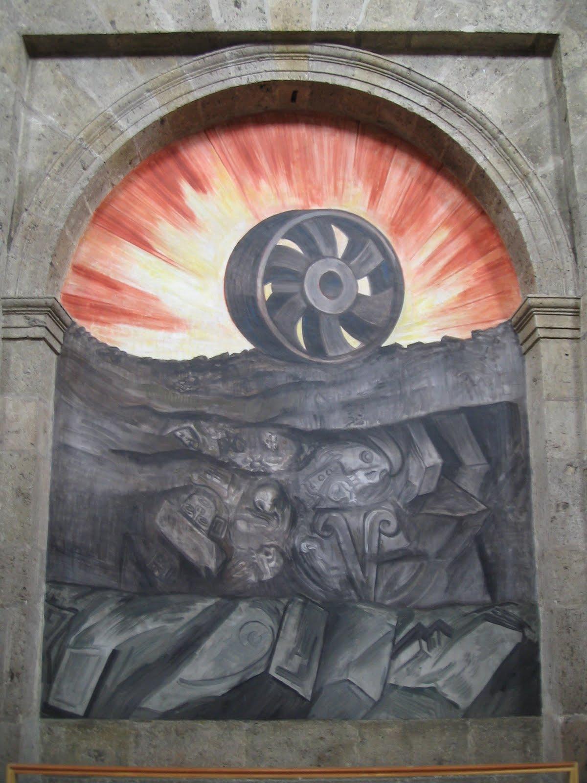 Er mundo de manu jose clemente orozco obras murales for El hombre de fuego mural de jose clemente orozco