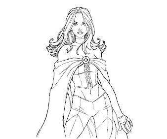 #7 Emma Frost Coloring Page